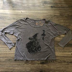 RVCA Wolf Slouchy Long Sleeve Tee Shirt